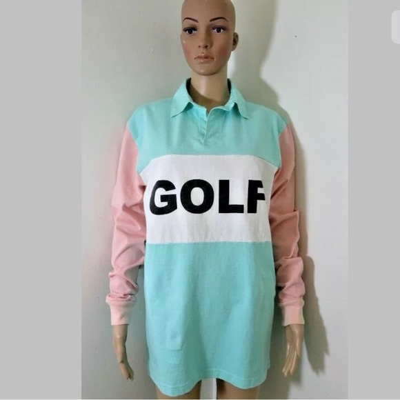 0348b17018a1fd Golf Wang Other - Golf Wang Shirt Collar Rugby Color Block Multi S